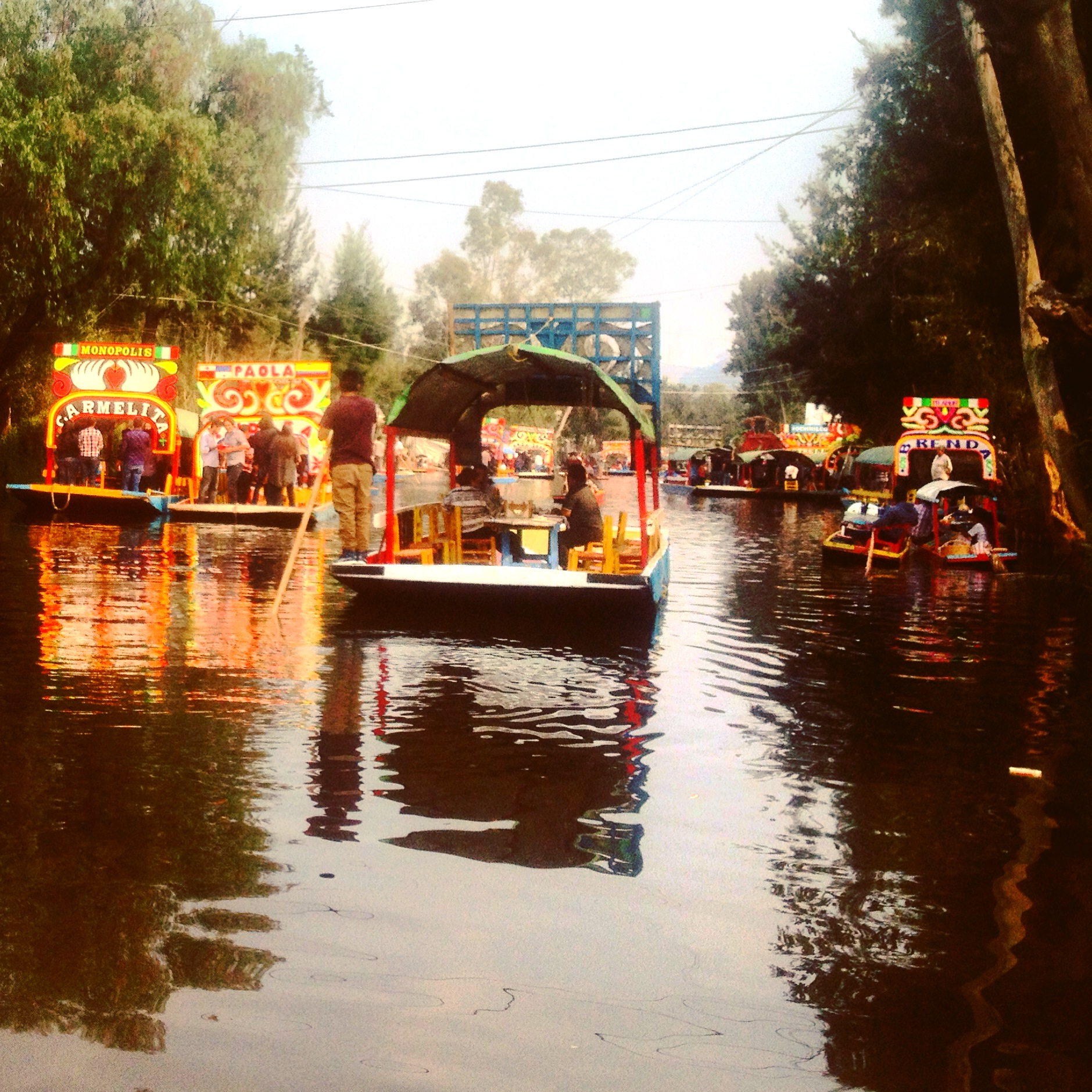 Passeio de trajinera em Xocimilco - Cidade do México