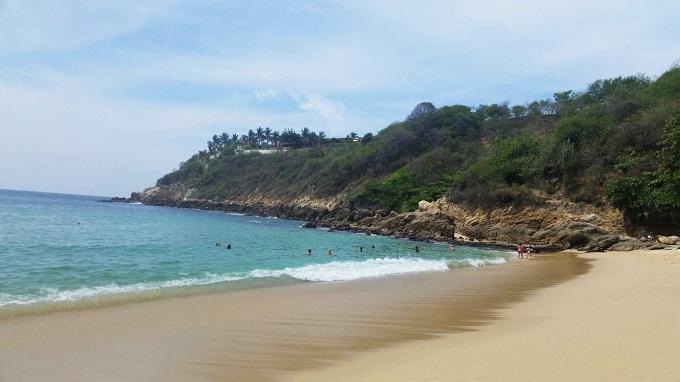 Praia de Carizalillo em Puerto Escondido