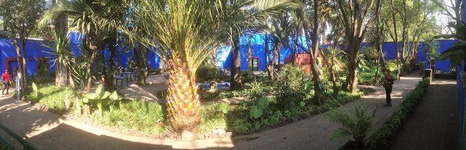 Pátio da Casa Azul de Frida Kahlo