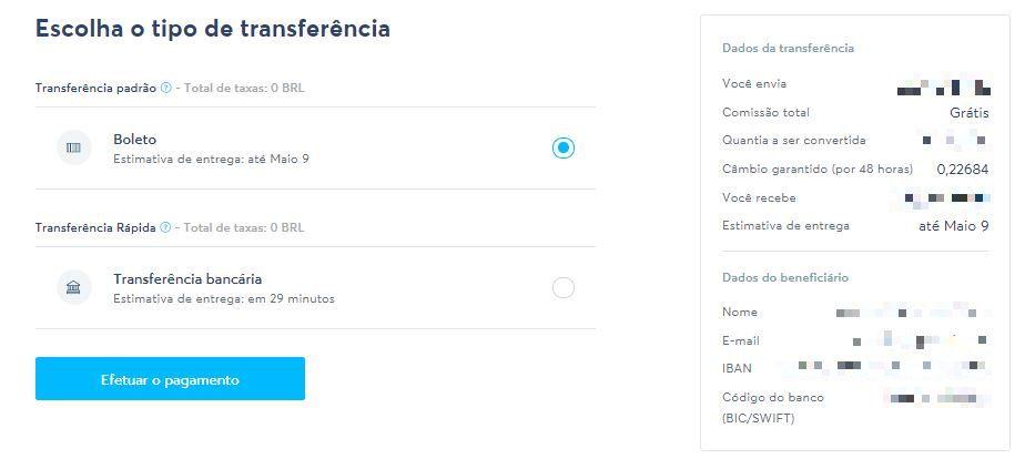Tutorial explica como usar o Transferwise para enviar dinheiro para o exterior