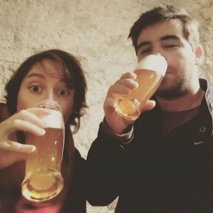 Cerveja da República Tcheca na cidade de Pilsen