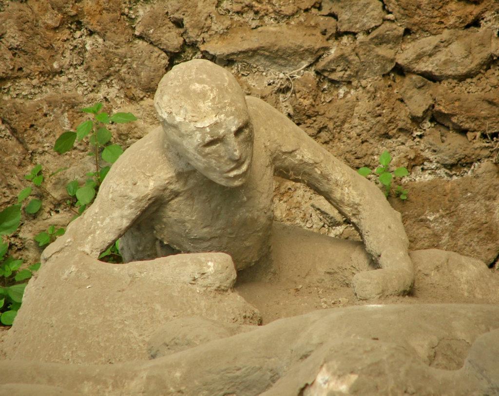 Corpos em Pompeia