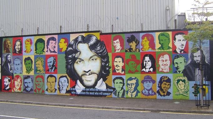 Murais de Belfast, na Irlanda do Norte