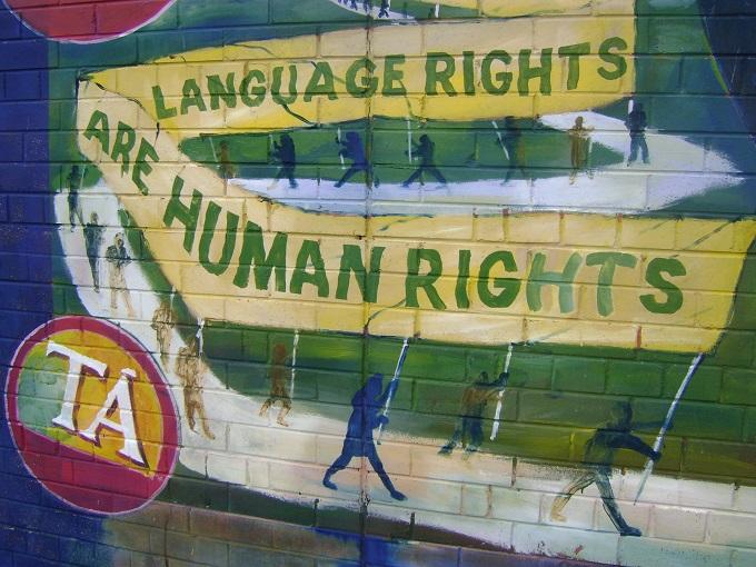 Mural encontrado em Belfast