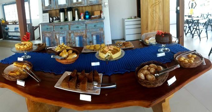 Café da manhã da Pousada Bahia Inn em Morro de São Paulo