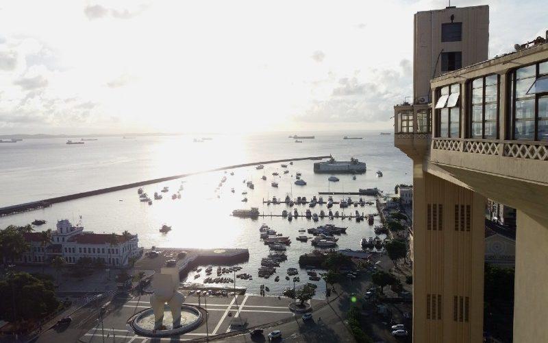 Vista do alto do Elevador Lacerda, em Salvador da Bahia