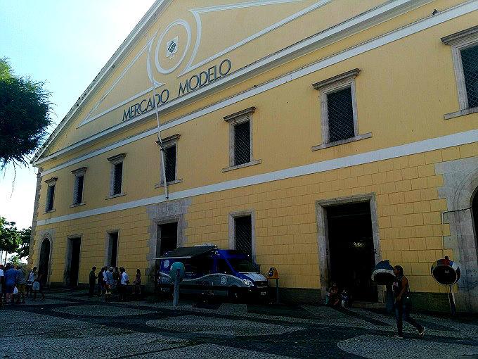 Fachada do Mercado Modelo, em Salvador