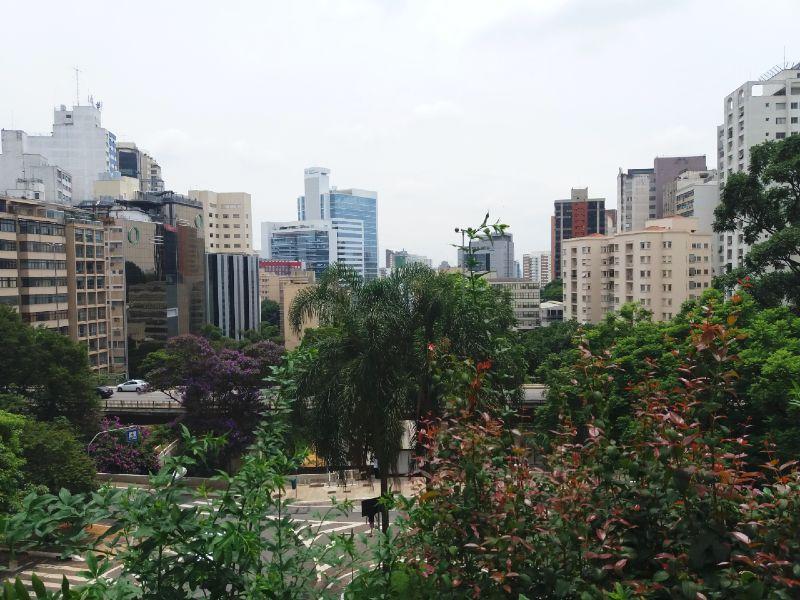 Vista do mirante do Masp, em São Paulo
