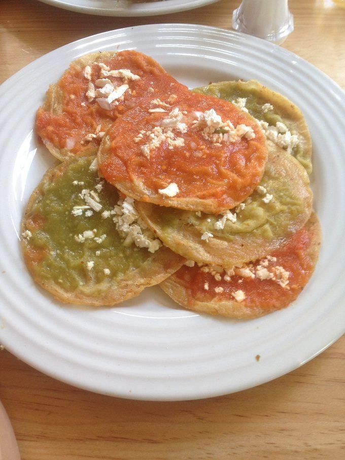 Comida mexicana: chalupas