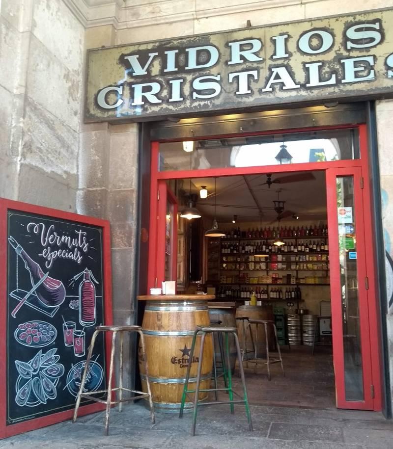 Bares em Barcelona: Fachada da Bodega Vidrios y Cristales