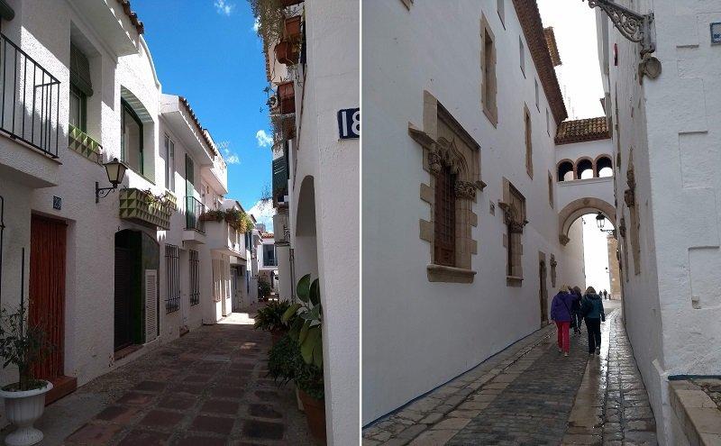 Exemplos da arquitetura em Sitges Espanha