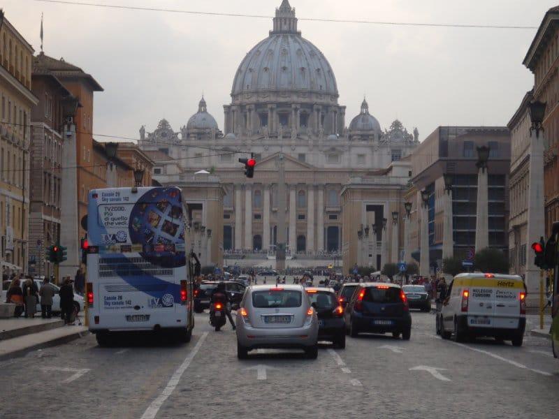Roteiro pela Itália de carro: trânsito em Roma