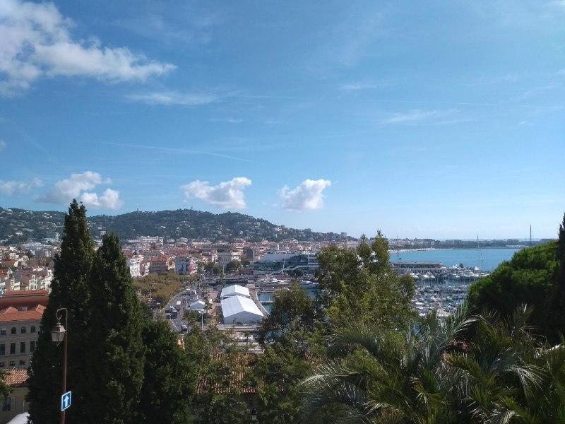 Vista panorâmica de Cannes França