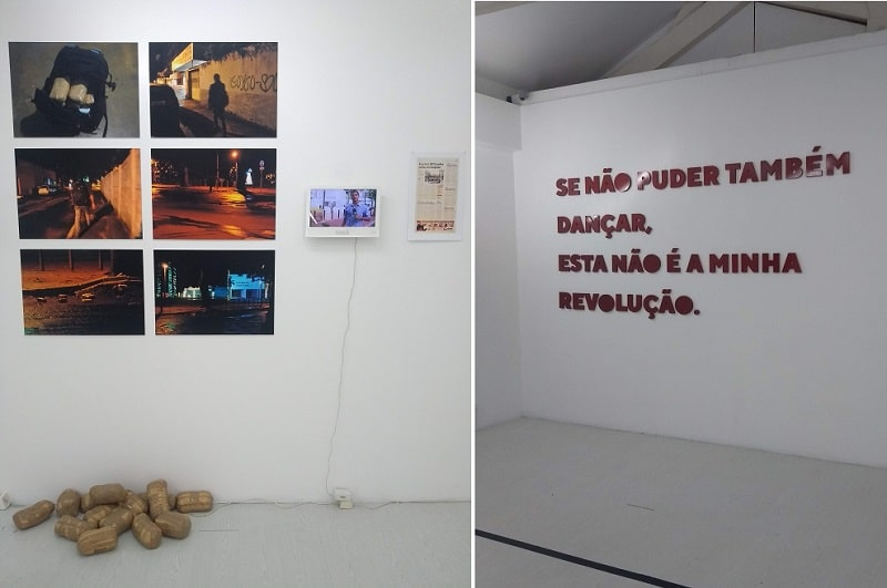 Exposição de arte no bar Maus Hábitos, em Porto