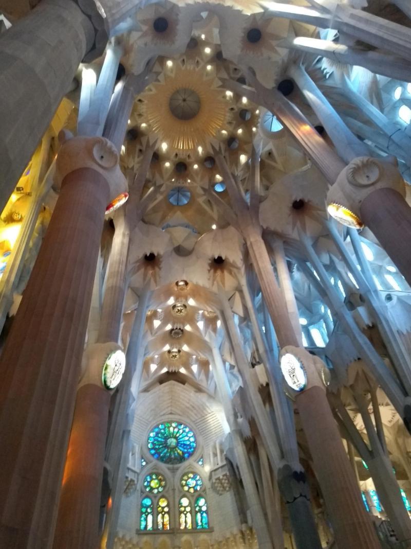 Vitrais da Sagrada Família Barcelona, na Espanha