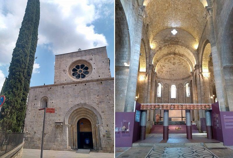 Fachada e nave central do Museu de Arqueologia de Girona